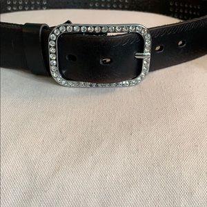 """Leather """"Bling"""" belt"""
